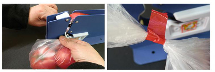 Supermarket Metal Plastic Bag Neck Sealer