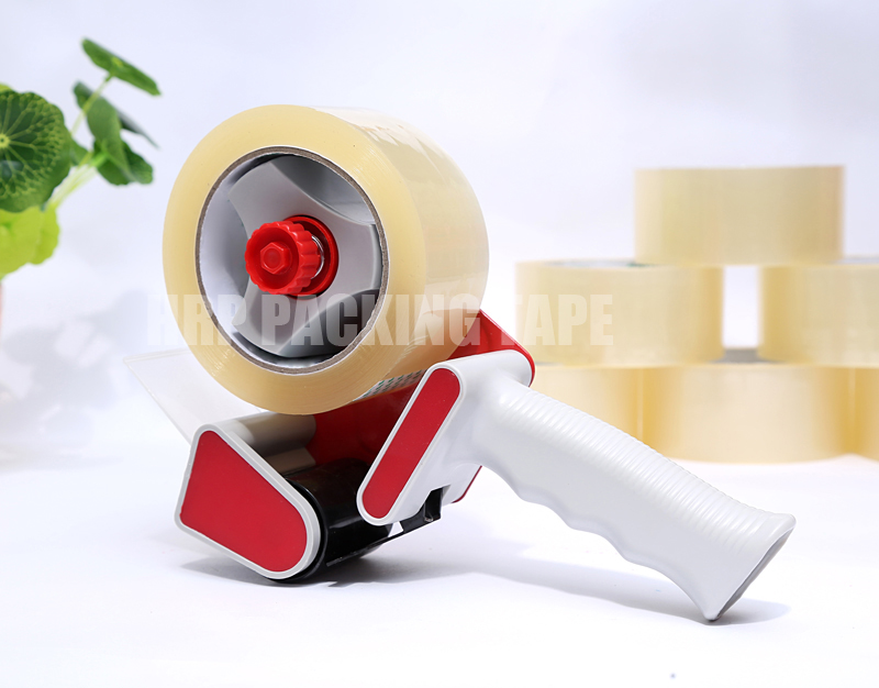 Tape dispenser for packing tape