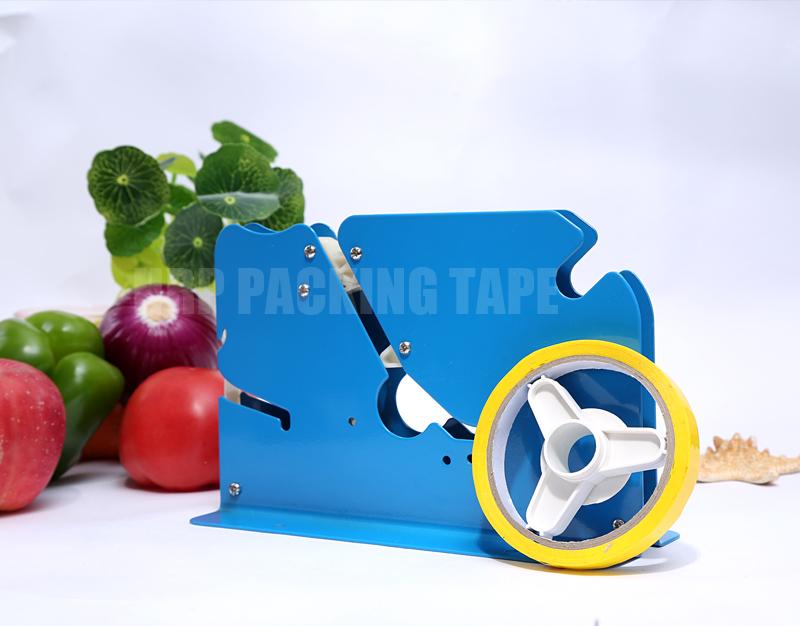 Bag neck sealer tape dispenser